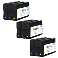 3 Compatible Sets of 3 C/M/Y HP 951 (HP951XL) Printer Ink Cartridges (Colour Set)