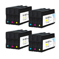 4 Compatible Sets of 3 C/M/Y HP 951 (HP951XL) Printer Ink Cartridges (Colour Set)