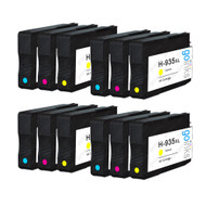 4 Compatible Sets of 3 C/M/Y HP 935 (HP935XL) Printer Ink Cartridges (Colour Set)