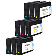 3 Compatible Sets of 3 C/M/Y HP 935 (HP935XL) Printer Ink Cartridges (Colour Set)