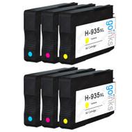2 Compatible Sets of 3 C/M/Y HP 935 (HP935XL) Printer Ink Cartridges (Colour Set)