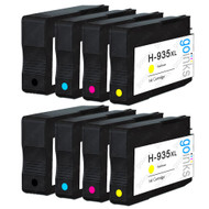 2 Compatible Sets of 4 HP 934 & 935 (HP 934XL & 935XL) Printer Ink Cartridges
