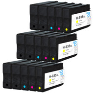 3 Compatible Sets of 4 + Extra Black HP 934 & 935 (HP 934XL & 935XL) Printer Ink Cartridges