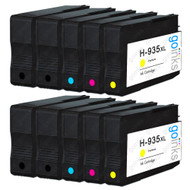 2 Compatible Sets of 4 + Extra Black HP 934 & 935 (HP 934XL & 935XL) Printer Ink Cartridges