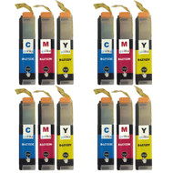 4 C/M/Y Colour Sets of Compatible Brother LC123 Printer Ink Cartridges