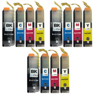 3 Sets of Compatible Brother LC123 Printer Inks Cartridges