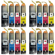 4 Sets of Compatible Brother LC123 Printer Inks Cartridges