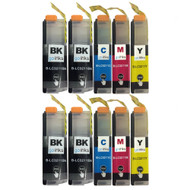 2 Go Inks Compatible Set of 4 + Extra Black to replace Brother LC3211 Compatible/non-OEM for Brother DCP & MFC Printers (10 Inks)