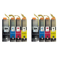 2 Go Inks Set of 4 Cartridges to replace Brother LC3217 Compatible/non-OEM for Brother MFC Printers (8 Inks)