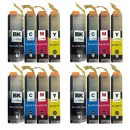 4 Go Inks Set of 4 Cartridges to replace Brother LC3217 Compatible/non-OEM for Brother MFC Printers (16 Inks)