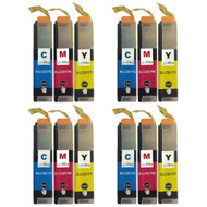 4 Go Inks Set of 3 C/M/Y Ink Cartridges to replace Brother LC3217 Compatible/non-OEM for Brother MFC Printers (12 Inks)