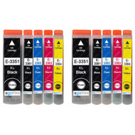 2 Go Inks Set of 4 + extra Photo Black Ink Cartridges to replace Epson T3557 (33XL Series) Compatible/non-OEM for Epson Expression Premium  Printers (10 Inks)