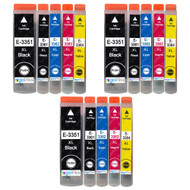 3 Go Inks Set of 4 + extra Photo Black Ink Cartridges to replace Epson T3557 (33XL Series) Compatible/non-OEM for Epson Expression Premium  Printers (15 Inks)