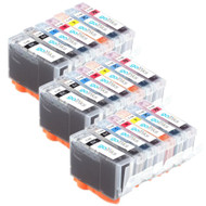 3 Compatible Sets of 7 Canon PGI-5 & CLI-8 Printer Ink Cartridges