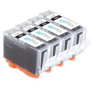 4 Black Compatible Canon PGI-5Bk Printer Ink Cartridges