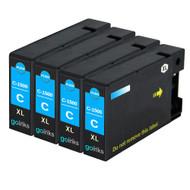 4 Cyan Compatible Canon PGI-1500XLC Printer Ink Cartridges