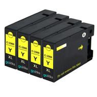 4 Yellow Compatible Canon PGI-1500XLY Printer Ink Cartridges
