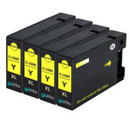 4 Yellow Compatible Canon PGI-1500XLY Printer Ink Cartridges