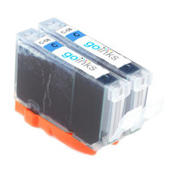2 Cyan Compatible Canon CLI-8C Printer Ink Cartridges