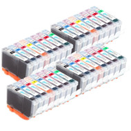 4 Compatible Sets of 8 Canon CLI-8 Printer Ink Cartridges