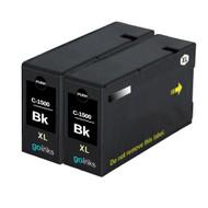 2 Black Compatible Canon PGI-1500XLBk Printer Ink Cartridges