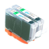 2 Green Compatible Canon CLI-8G Printer Ink Cartridges