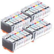 4 Compatible Sets of 7 Canon PGI-5 & CLI-8 Printer Ink Cartridges