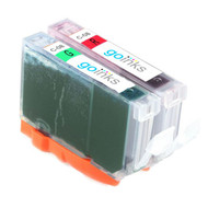 1 Compatible Set of Canon CLI-8R & CLI-8G Printer Ink Cartridges (Red & Green)