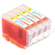 4 Yellow Compatible Canon CLI-8Y Printer Ink Cartridges