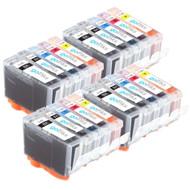 4 Compatible Sets of 5 Canon PGI-5 & CLI-8 Printer Ink Cartridges
