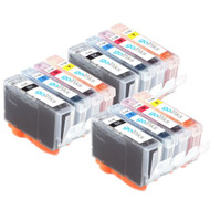 3 Compatible Sets of 4 Canon PGI-5 & CLI-8 Printer Ink Cartridges