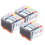 3 Compatible Sets of 4 Canon PGI-5 & CLI-8 Printer Ink Cartridges