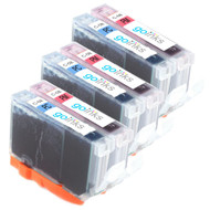 3 Compatible Sets of Canon CLI-8PC & CLI-PM Printer Ink Cartridges (Photo Set)