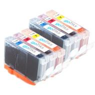 2 Compatible Sets of 3 C/M/Y Canon CLI-8 Printer Ink Cartridges (Colour Set)