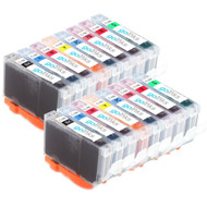 2 Compatible Sets of 8 Canon CLI-8 Printer Ink Cartridges