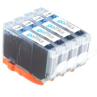 4 Photo Cyan Compatible Canon CLI-8PC Printer Ink Cartridges