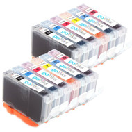 2 Compatible Sets of 6 Canon CLI-8 Printer Ink Cartridges