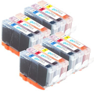 4 Compatible Sets of 3 C/M/Y Canon CLI-8 Printer Ink Cartridges (Colour Set)