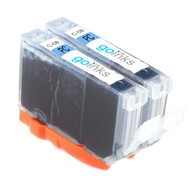 2 Photo Cyan Compatible Canon CLI-8PC Printer Ink Cartridges