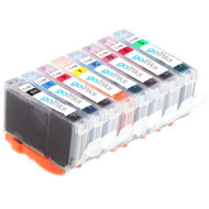 1 Compatible Set of 8 Canon CLI-8 Printer Ink Cartridges