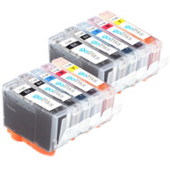 2 Compatible Sets of 5 Canon PGI-5 & CLI-8 Printer Ink Cartridges
