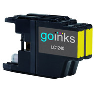 2 Yellow Compatible Brother LC1240 / LC1220 Printer Ink Cartridges