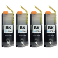4 Black XL Compatible Brother LC127 Printer Ink Cartridges