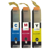 1 C/M/Y Colour XL Set of Compatible Brother LC125 Printer Ink Cartridges