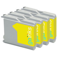 4 Yellow Compatible Brother LC970 / LC1000 Printer Ink Cartridges