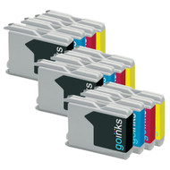 3 Sets of Compatible Brother LC970 / LC1000 Printer Inks Cartridges