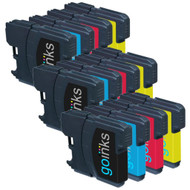 3 Sets of Compatible Brother LC980 / LC1100 Printer Inks Cartridges