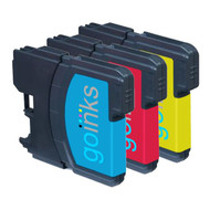 1 C/M/Y Colour Set of Compatible Brother LC980 / LC1100 Printer Ink Cartridges