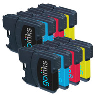 2 Sets of Compatible Brother LC980 / LC1100 Printer Inks Cartridges