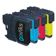 1 Set of Compatible Brother LC980 / LC1100 Printer Inks Cartridges